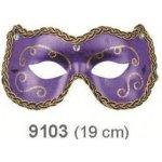 Plesová škraboška s ornamenty 19 cm 9101-3