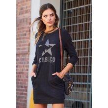 KangaROOS bavlněné šaty šedá černá 8e033b7c63