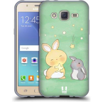 Pouzdro HEAD CASE Samsung Galaxy J5, J500, (J5 DUOS) vzor králíček a hvězdy zelená