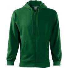 Adler pánská mikina Trendy Zipper lahvově zelená