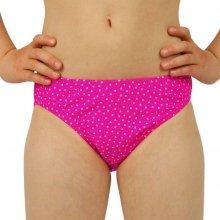 Dívčí plavky KALHOTKY s puntíky Růžová b6b5801eaf
