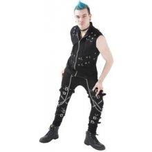 Gotické kalhoty pánské dlouhé s přezkami a řetízky