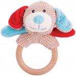 Bigjigs Toys Chrastítko kroužek pejsek Bruno