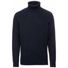 Calvin Klein Jeans Pulovr 'WOOL BLEND MONOGRAM TURTLE NECK' noční modrá