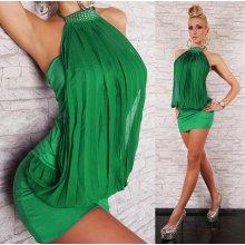 LM moda tunika či minišaty na večerní párty 129 zelená cbde1caf87