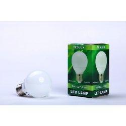 Žárovky Teslux LED žárovka B60 4,2W 42SMD E27 ceramic teplá bílá