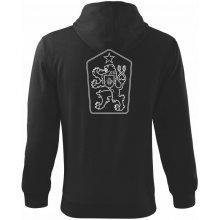 ČSSR znak Mikina s kapucí na zip trendy zipper Černá f7ca8e94ad