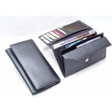 Arwel Dámská kožená psaníčková peněženka s klopnou 511 4027 černá