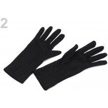 Společenské rukavice 23 cm dámské černá 6pár