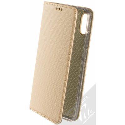 Pouzdro Sligo Smart Magnet Huawei Y6 Prime 2019 Y6s Honor 8A zlaté