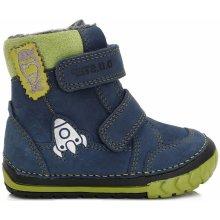 55a8f77f17d D.D.step Chlapecké kotníkové boty s raketou - modro-zelené