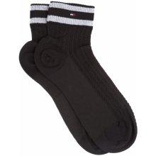 Tommy Hilfiger ponožky 2 páry Černá dámské