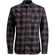 57eead43a88 Jack Jones Pánská košile Jorlegacy Shirt Org Fiery Red Slim