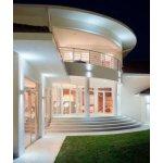 Fabas Delo, venkovní oválné nástěnné svítidlo 2x6W LED s teple bílou barvou světla, hliník, výška: 13cm, IP54