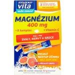 Maxivita Magnezium 400mg+B komplex+Vitamín C stick 16 ks