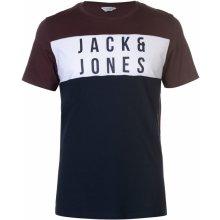 Jack & Jones Core Logo T Shirt Fudge/Sky