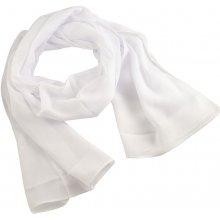 Šála vzdušná 69kl001-01 bílá jednobarevná