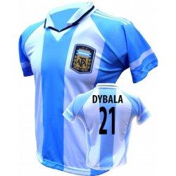 d858a8934 Trops-Sport Fotbalový dres Argentina Paulo Dybala Číslo na prsa ...
