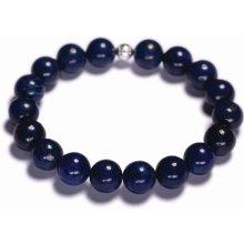 Lavaliere pánský korálkový náramek modrý lapis lazuli 01501