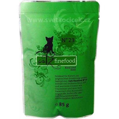 Petnature Catz Finefood 23 hovězí & kachna maso 85 g