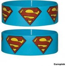 Náramek silikonový Superman logo modrý šířka WR67012 CurePink