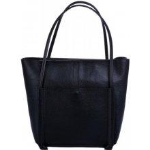 Pelletteria Giada kožená kabelka s vnitřním organizerem 0012 černá
