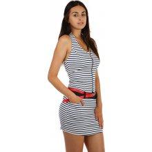 be90bd2a932ee YooY proužkované šaty s páskem 65267 bílá