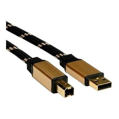 Roline 11.02.8802 Gold USB 2.0 kabel A-B, 1,8m