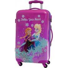 ABS Joummabags cestovní kufr Ledové Království Lila 67x42x24cm/ 53 l