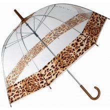 Průhledný deštník leopard