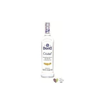 "Don Q "" Cristal "" white Puerto Rican rum 37.5% vol. 1.00 l"