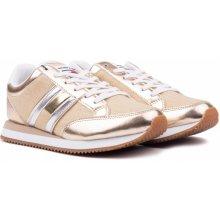 a044329463 Tommy Hilfiger zlaté tenisky WMN Casual Retro Sneaker Light Gold