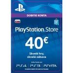 Sony PlayStation Store předplacená karta 40 EUR