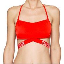 Calvin Klein Plavková podprsenka X Bandeau-RP KW0KW00154-602 Red