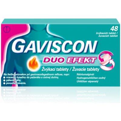 Gaviscon Duo Efekt žvýkací tablety por.tbl.mnd.48 — Heureka.cz