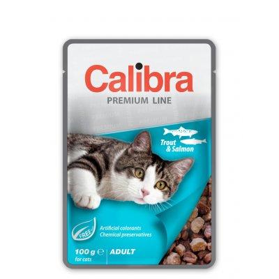 Calibra Cat Adult Pstruh & losos v omáčce 100 g