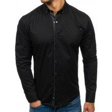 Bolf Černá pánská elegantní košile s dlouhým rukávem 7714 d46f207e27