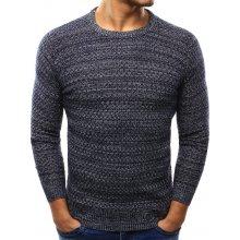 Pánský tmavě šedý fleecový svetr (wx0997)