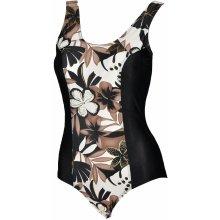 Mariss Liwia jednodílné plavky černá/hnědá