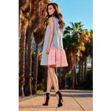 a617af48a88a Lemoniade dámské šaty L247 šedo růžová