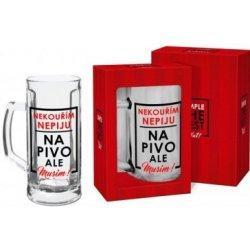 Darkoviny Půllitr na pivo Nepiju, nekouřím 0,5 l