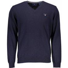 Gant vlněný svetr s V límečkem - tmavě modrý