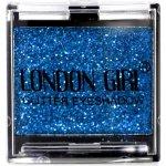 LONDON GIRL Flitrové oční stíny Mono Modré GLITTER Eyeshadow 17 4,5 g