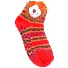 Attractive Teplé ponožky CHAUSSONS CHAUSSETTES 12 KFA003 LION + 12 KFA004 MONKEY LOT DE 2 2 páry