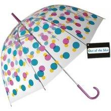 DecoDoma Dámský deštník průhledný s barevnými puntíky