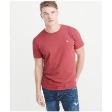 Pánské tričko Abercrombie&Fitch Icon Crew Tee červená