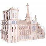 Woodcraft 3D puzzle dřevěná skládačka Katedrála Notre dame GP151