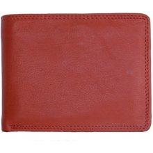 Kabana Klasická pánská kožená peněženka červená