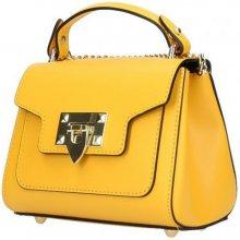 1506410374 Italská kožená kabelka na rameno 5322 žlutá