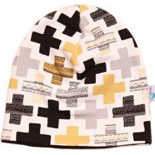 9c2510441e5 Cronies dětská čepice Žluté křížky